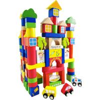 木制桶装积木玩具1-2周岁男宝宝儿童木头启蒙3-6周岁女孩