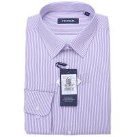 youngor/雅戈尔 新品 BN12646KJA男士紫色条纹保暖长袖衬衣
