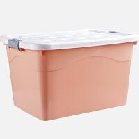 北欧风小清新创意简约收纳箱塑料衣服棉被整理箱加厚加大家用储物箱整理箱子收纳盒储物盒 250# 两件装