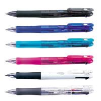 日本斑马(ZEBRA) 圆珠笔多色多功能弹性笔夹0.7mm B3A3 三色圆珠笔