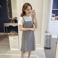 实拍新款短袖上衣女夏f百搭打底两件套韩版时尚连衣裙