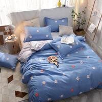 少女心床上四件套床单三件套 学生宿舍单人被套被褥套装六件套定制