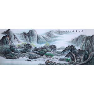 刘一民《山水30》著名画家