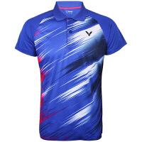 威克多Victor 胜利羽毛球服短袖男女款 韩国队大赛服 网羽运动T恤球衣