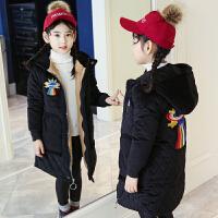 女童棉衣2017新款装中大童加厚羽绒儿童金丝绒棉袄洋气外套