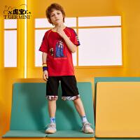【2件3折:44.7元】小虎宝儿男童短裤夏装2021新款中大童洋气童装儿童薄款宽松