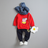 女童宝宝秋季套装2017新款韩版0加厚加绒1婴儿2卫衣两件套3-4岁