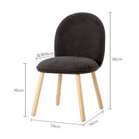 实木化妆梳妆椅简约创意靠背椅子家用休闲单人餐椅