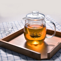 企鹅玻璃茶壶耐高温过滤泡茶杯加热泡花茶壶茶具茶器内胆过滤小企鹅 高硼硅煮茶壶