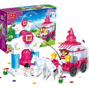 【当当自营】邦宝小颗粒 女生生日礼物拼插积木益智儿童玩具 幸福钟声6107