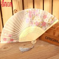 萌味 扇子 苏扇古风扇子折扇女式中国风折扇舞蹈扇日式樱花小扇