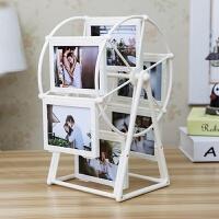创意DIY手工定制照片风车旋转相框摆台相册结婚毕业纪念生日礼物