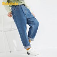 巴拉巴拉儿童裤子男童长裤2020新款中大童休闲牛仔裤洋气百搭纯棉