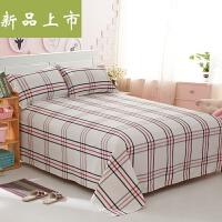 老粗布床单单件三件套双人单人宿舍炕单1.5 1.8 2.0米床定制 白色 新原白格