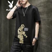 花花公子短袖T恤男2020夏季新款韩版青年休闲t恤男时尚潮流修身上衣男装
