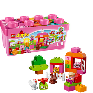 [当当自营]LEGO 乐高 duplo得宝系列 多合一粉红趣味桶 积木拼插儿童益智玩具 10571