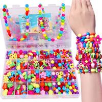 儿童串珠玩具益智手工diy制作材料包女孩手链项链女童宝宝穿珠子