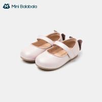 迷你巴拉巴拉女童皮鞋2021春款防滑精致可爱时装鞋洋气软底公主鞋