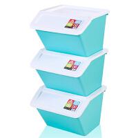 三个装大号塑料收纳箱有盖儿童玩具零食品整理储物箱 超划算3个装(食品级PP材质)