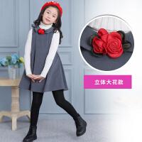 女童连衣裙秋洋气卡通公主裙韩版中大童裙子季儿童呢子背心裙