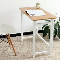 家逸 可折叠台式电脑桌写字台 家用简易人体工学电脑桌子 简约现代办公桌 学习书桌书架