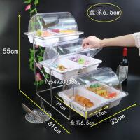 点心架子 多层 创意酒店时尚三层面包点心水果篮带盖自助餐盘多层食物展示架