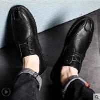 男士商务休闲皮鞋新款男韩版豆豆鞋男英伦鞋子男潮鞋男鞋网红时尚户外新品