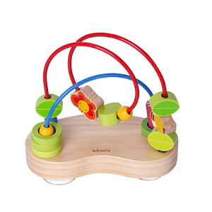 【当当自营】木玩世家比好串珠架儿童带吸盘缤纷绕珠早教益智木制宝宝玩具B2616