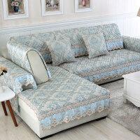 四季亚麻沙发垫提花沙发坐垫套装防滑罩巾可定制
