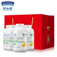 百合康 健康礼品装 褪黑素维生素B6胶囊改善睡眠 0.15g*80粒*4瓶 礼盒礼袋