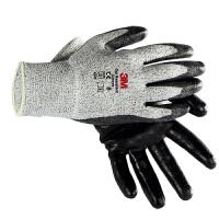 3M 防切割手套防滑透气园艺裁剪搬运丁腈�蛘品阑せ�械耐磨劳保手套 三级防割型L2 一副 纸卡装 灰色M/L
