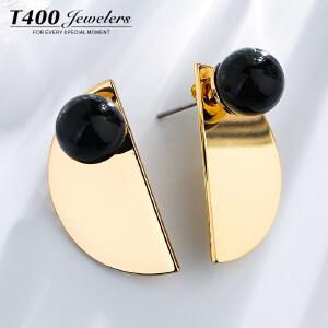 T400 韩国气质耳环简约防过敏女款几何耳坠学生森系百搭个性耳饰品 2959