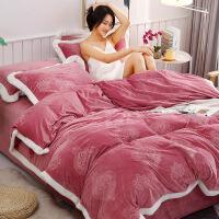 宝宝绒床上四件套珊瑚绒加厚保暖双面法兰绒被套床单