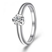 梦克拉 18K金钻石戒指 爱你360度系列爱的印记