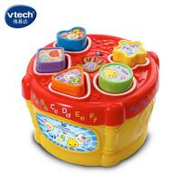 VTech伟易达配对音乐鼓 形状配对玩具 宝宝几何形状认知盒形状盒