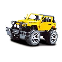 【当当自营】双鹰无线遥控车充电牧马人电动吉普越野车模型儿童玩具车黄色E716-001