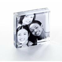 瑞普亚克力相框6371 哈根-正方形+铁艺相架台牌 桌牌 台签76*76MM