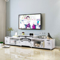 亿家达电视柜茶几组合套装简约现代小户型客厅伸缩电视柜宜家家具