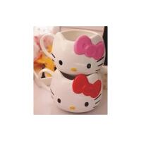 陆捌壹肆 凯蒂猫kt猫Hello Kitty 猫头 陶瓷杯 喝水杯 茶杯 牛奶杯 办公杯(一个装)