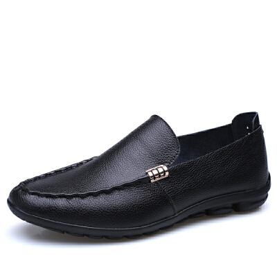 宜驰EGCHI 休闲鞋男士商务皮鞋男士豆豆套脚一脚蹬鞋子 1616