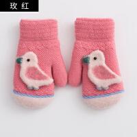 儿童手套韩版秋冬卡通针织可爱加绒保暖手套男童女童秋冬全指手套