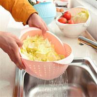 洗米筛可移动滤罩淘米器塑料果蔬篮洗菜篮颜色随机淘米器厨房洗米筛塑料沥水洗菜篮子加厚洗菜盆水 一只装