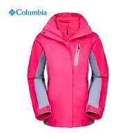 Columbia哥伦比亚户外女抓绒内胆加厚保暖防水三合一冲锋衣PL7860