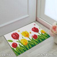 DIY地毯 毛�立�w�C十字�C地毯段段�C地�|材料包手工diy卡通�T�|浴室�|