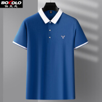 伯克龙 男士纯棉休闲商务长袖POLO衫 春季新品 修身体T恤保罗衫A8899