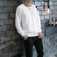 秋季新款长裤长袖卫衣青少年运动套装男士潮宽松大码连帽两件一套DJ-8303
