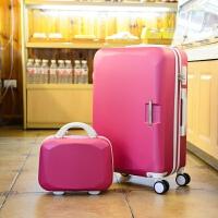 拉杆箱26寸万向轮女士学生行李箱24寸旅行箱子母20登机箱旅游箱包 玫红色/子母 26寸