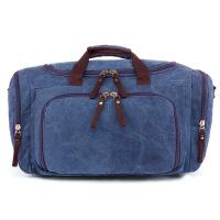 2018新款帆布旅行包色大容量复古男士户外旅行袋 24寸