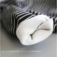 韩国童装秋季内衣男童女童拉架棉条纹高领T恤 宝宝长袖打底衫 加绒 白色