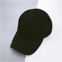 2018082308520297018年新款帽子带环的韩版男黑色棒球帽女韩国休闲百搭弯沿鸭舌帽百搭 可调节
